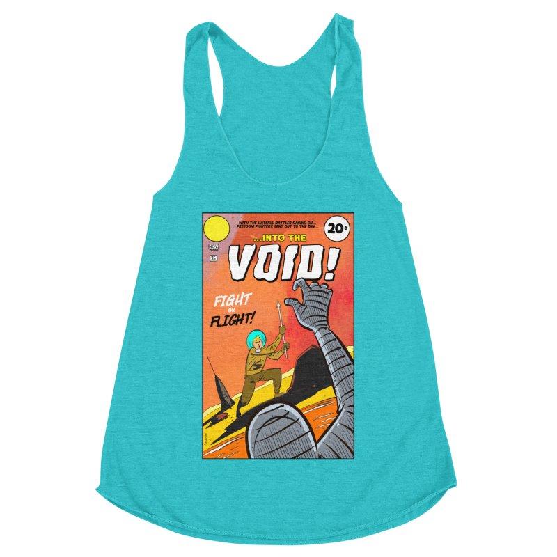 Into the Void Women's Racerback Triblend Tank by Krishna Designs