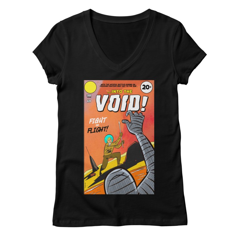 Into the Void Women's V-Neck by Krishna Designs