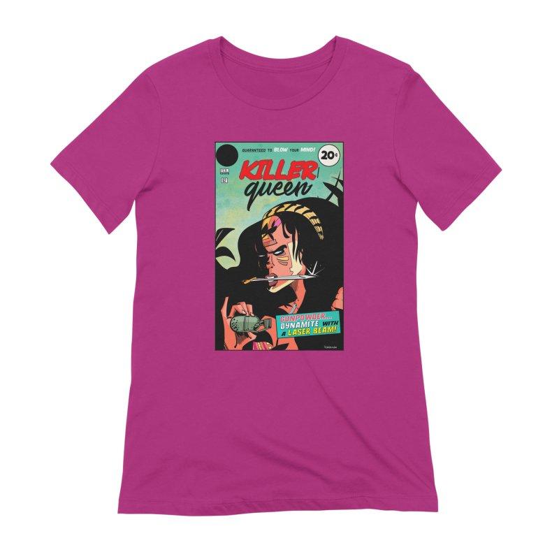 Killer Queen Women's Extra Soft T-Shirt by Krishna Designs