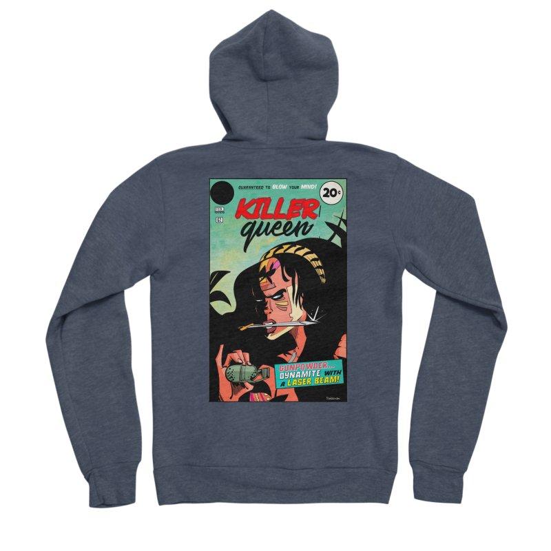 Killer Queen Men's Zip-Up Hoody by Krishna Designs