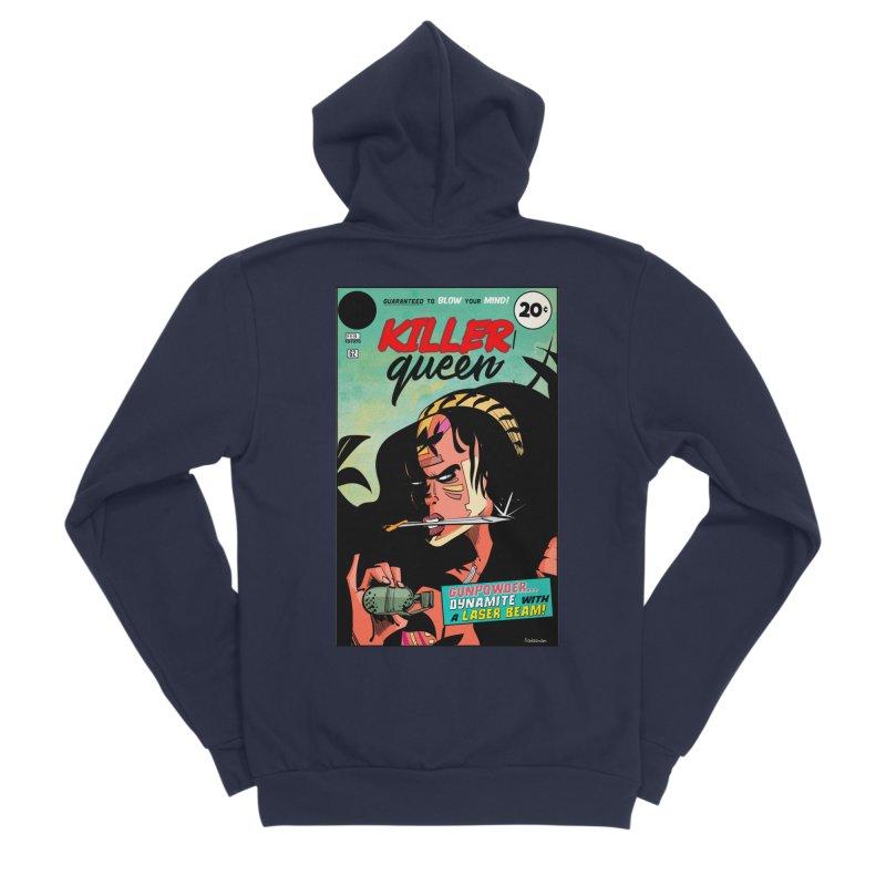 Killer Queen Men's Sponge Fleece Zip-Up Hoody by Krishna Designs