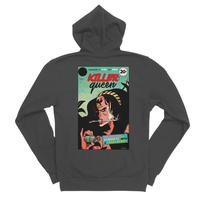 Killer Queen Men's Zip-Up Hoody by Krishna Designs