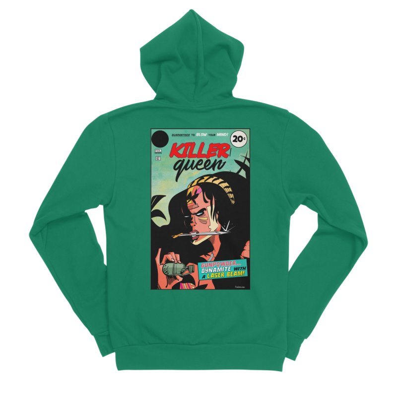 Killer Queen Men's Sponge Fleece Zip-Up Hoody by Krishna Designs