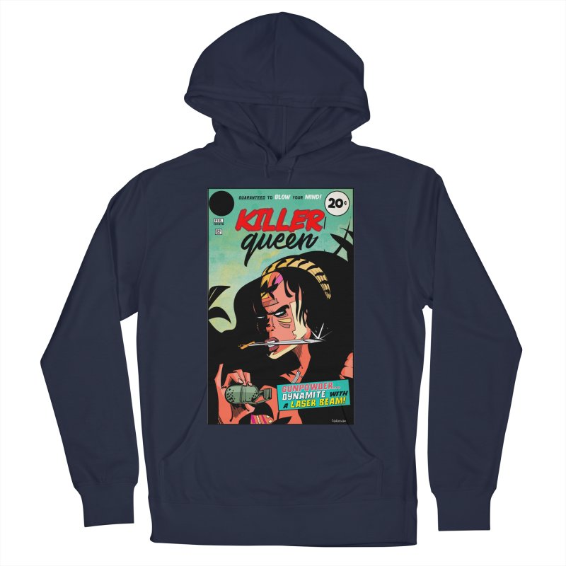 Killer Queen Women's French Terry Pullover Hoody by Krishna Designs