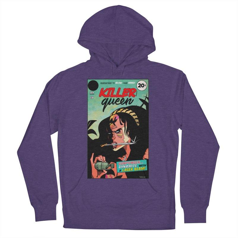 Killer Queen Men's French Terry Pullover Hoody by Krishna Designs