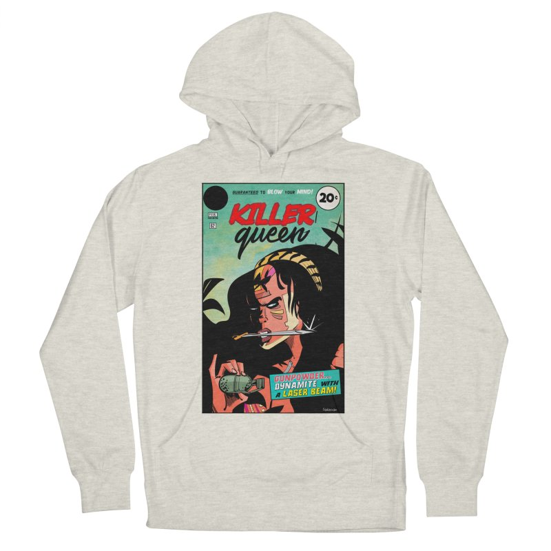 Killer Queen Men's French Terry Pullover Hoody by Krishna Designs