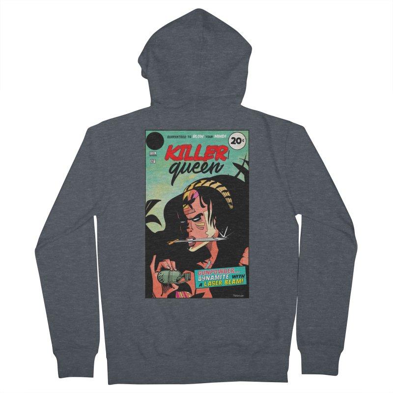 Killer Queen Women's French Terry Zip-Up Hoody by Krishna Designs