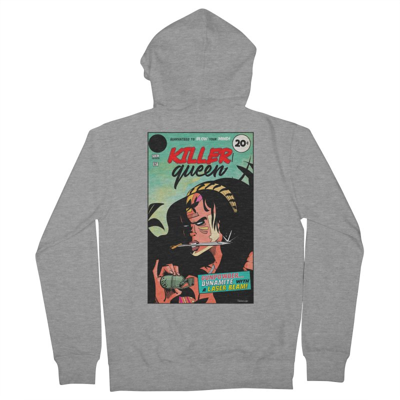 Killer Queen Women's French Terry Zip-Up Hoody by Krishna Designs