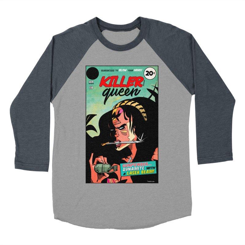Killer Queen Men's Baseball Triblend Longsleeve T-Shirt by Krishna Designs