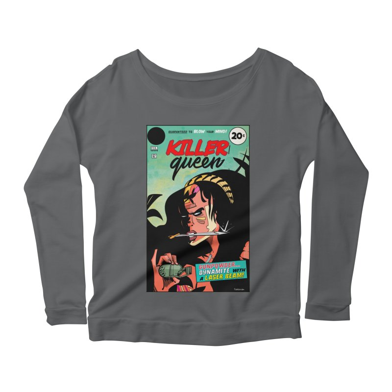 Killer Queen Women's Scoop Neck Longsleeve T-Shirt by Krishna Designs