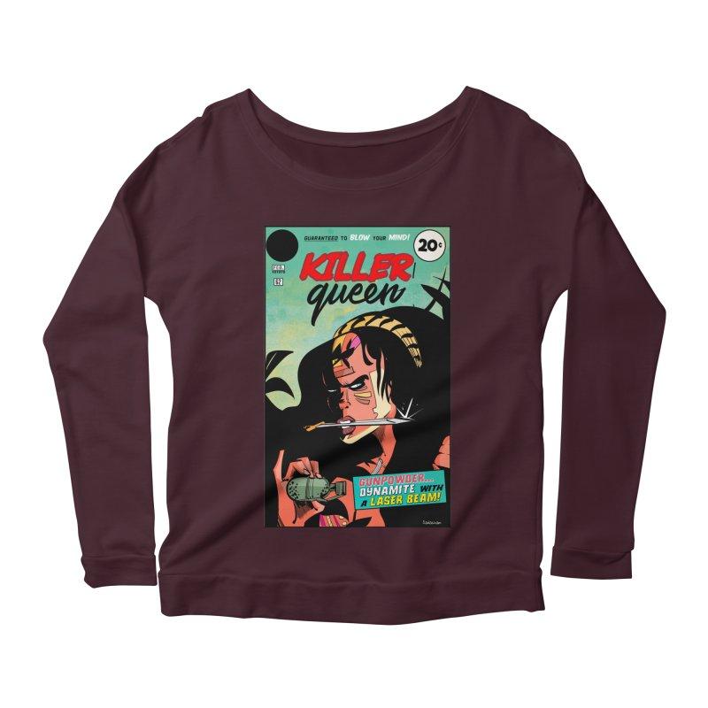 Killer Queen Women's Scoop Neck Longsleeve T-Shirt by Krishna Designs
