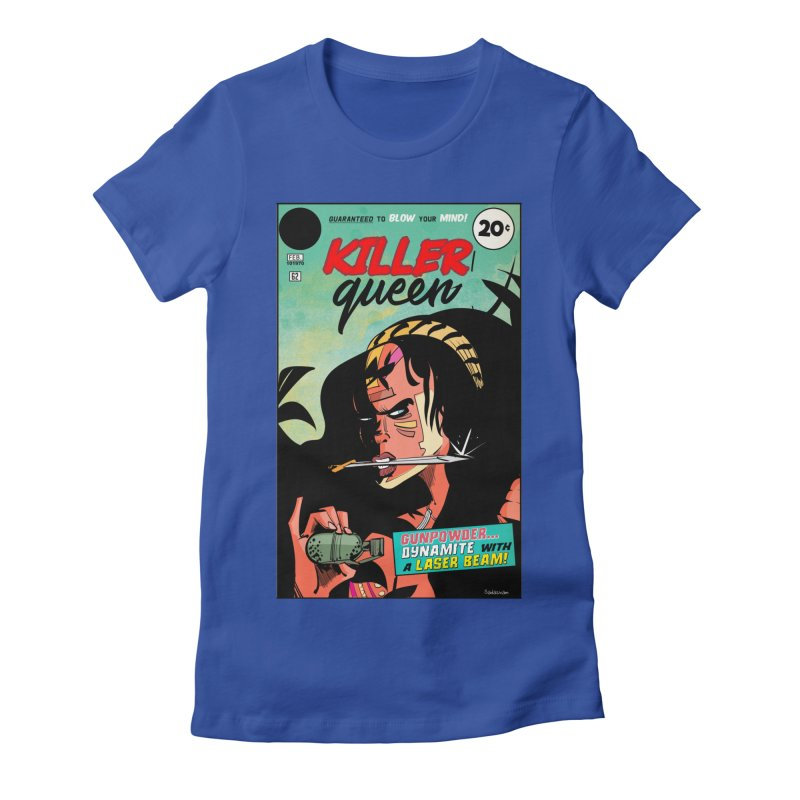 Killer Queen Women's Fitted T-Shirt by Krishna Designs