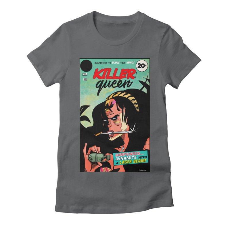 Killer Queen Women's Fitted T-Shirt by Krishna Designs