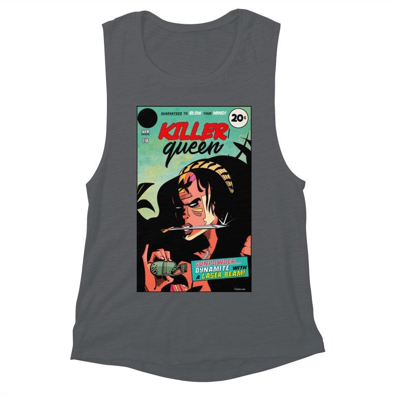Killer Queen Women's Muscle Tank by Krishna Designs