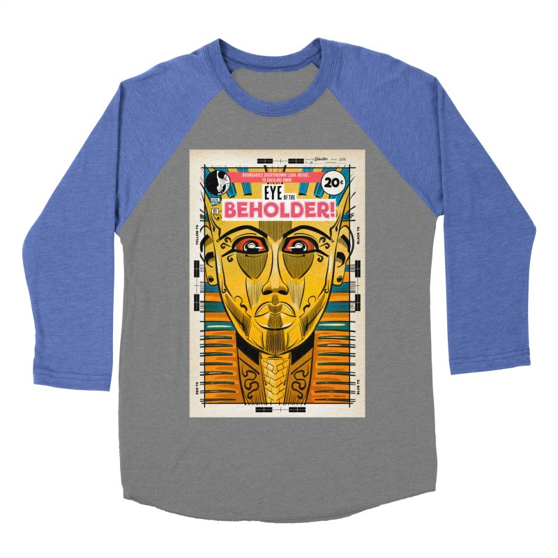 Beholder Women's Baseball Triblend Longsleeve T-Shirt by Krishna Designs