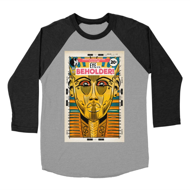 Beholder Men's Baseball Triblend Longsleeve T-Shirt by Krishna Designs