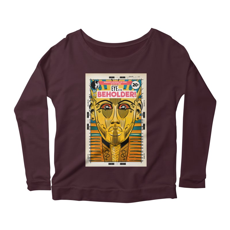 Beholder Women's Scoop Neck Longsleeve T-Shirt by Krishna Designs