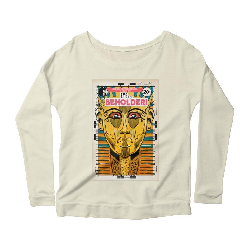 Beholder Women's Scoop Neck Longsleeve T-Shirt by Krishna Designs
