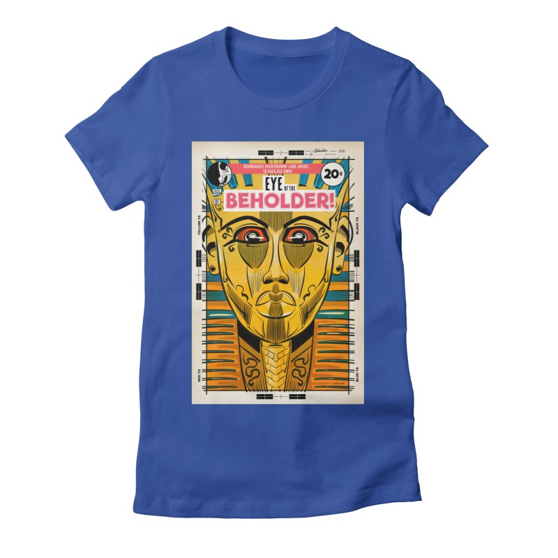 Beholder Women's Fitted T-Shirt by Krishna Designs