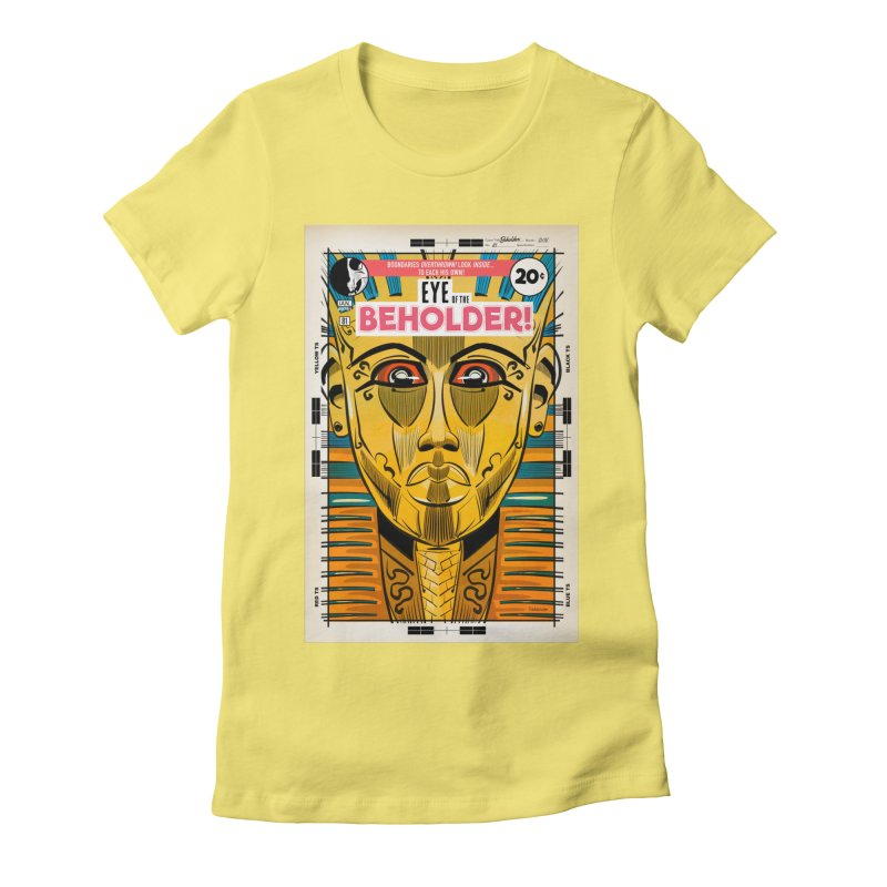 Beholder Women's Fitted T-Shirt by Krishna Designs