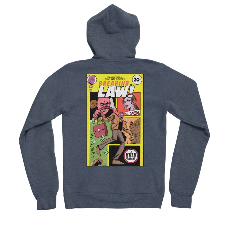 Breaking the Law Men's Sponge Fleece Zip-Up Hoody by Krishna Designs