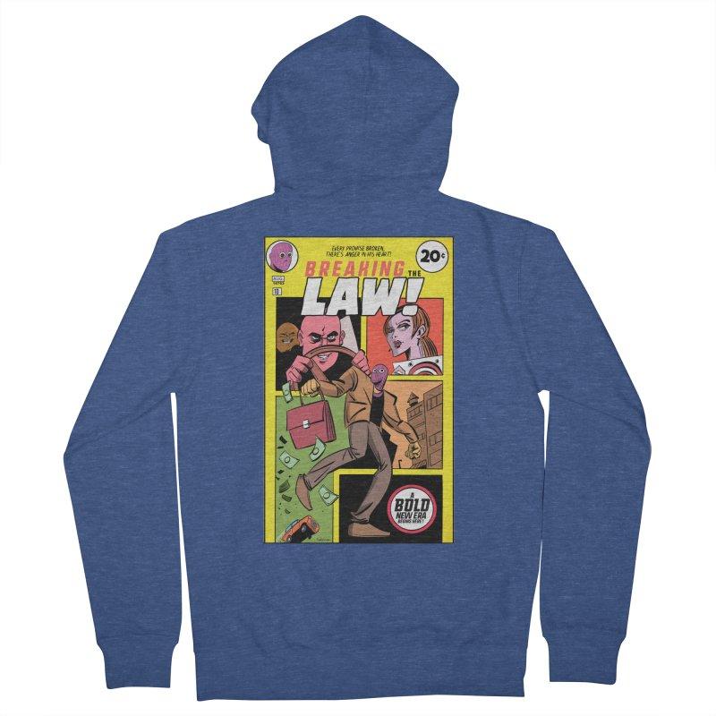 Breaking the Law Men's Zip-Up Hoody by Krishna Designs
