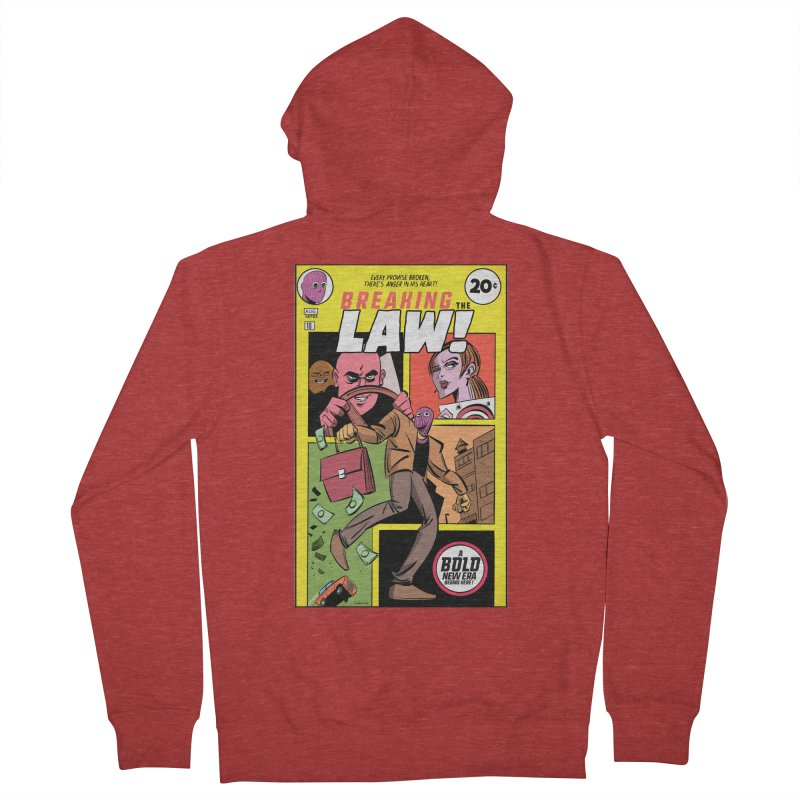 Breaking the Law Men's French Terry Zip-Up Hoody by Krishna Designs
