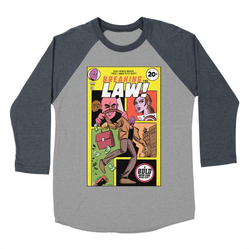 Breaking the Law Women's Baseball Triblend Longsleeve T-Shirt by Krishna Designs
