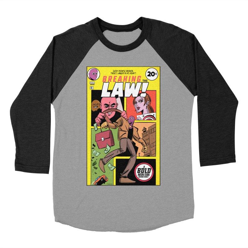 Breaking the Law Men's Baseball Triblend Longsleeve T-Shirt by Krishna Designs