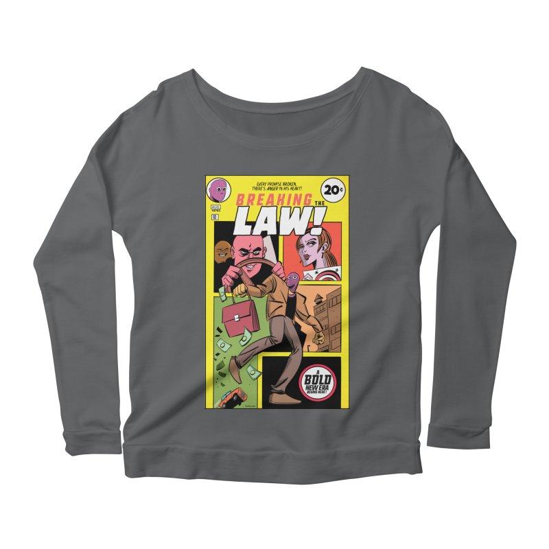 Breaking the Law Women's Scoop Neck Longsleeve T-Shirt by Krishna Designs