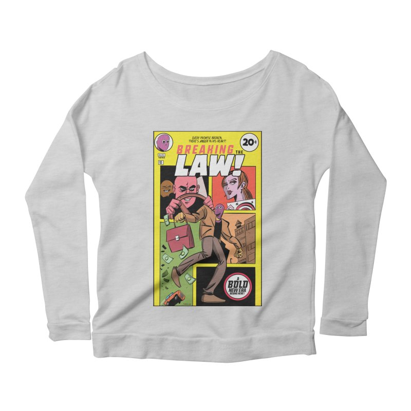 Breaking the Law Women's Scoop Neck Longsleeve T-Shirt by Krishna Designs