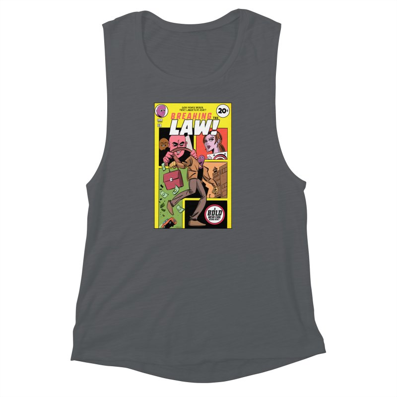 Breaking the Law Women's Muscle Tank by Krishna Designs