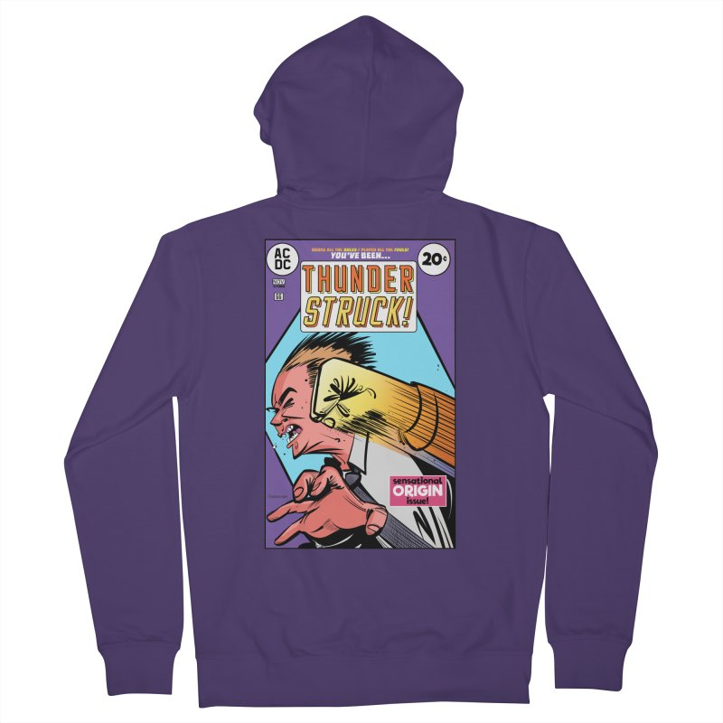 Thunder struck! Women's French Terry Zip-Up Hoody by Krishna Designs