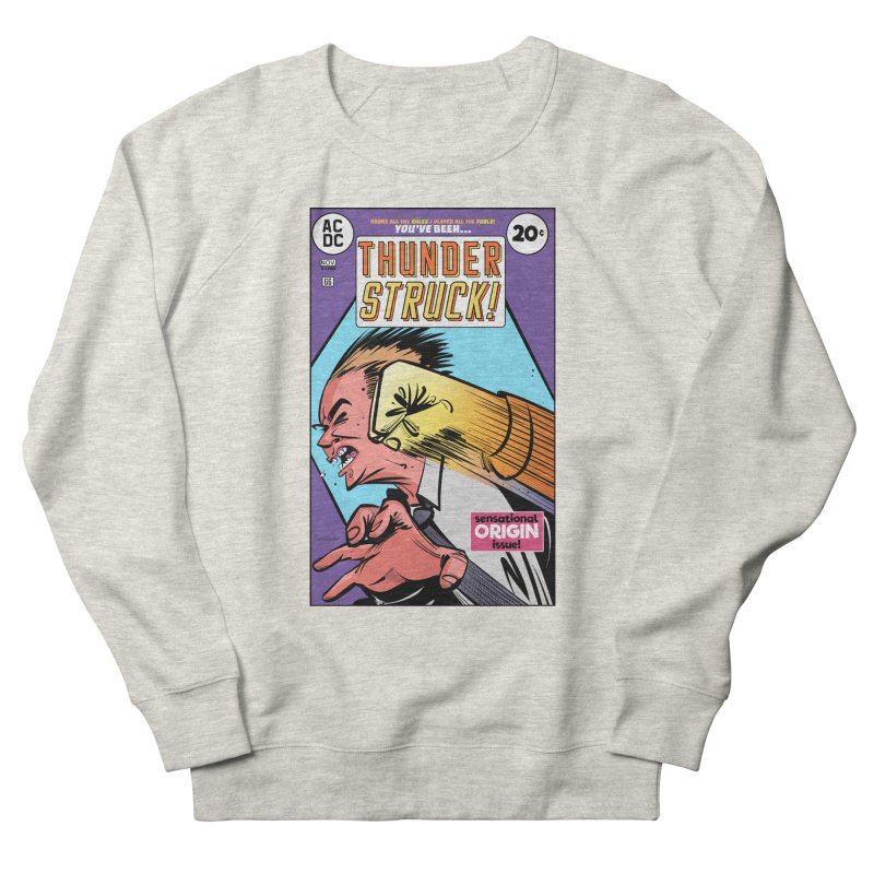 Thunder struck! Men's French Terry Sweatshirt by Krishna Designs