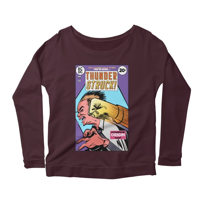 Thunder struck! Women's Scoop Neck Longsleeve T-Shirt by Krishna Designs