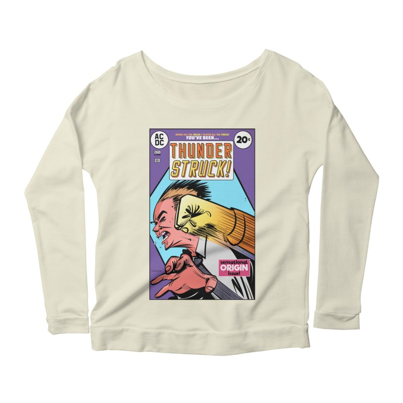 Thunder struck! Women's Scoop Neck Longsleeve T-Shirt by Krishna Designs