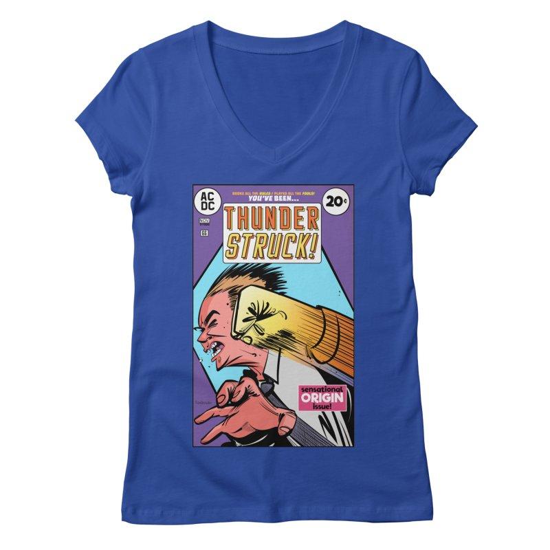 Thunder struck! Women's Regular V-Neck by Krishna Designs