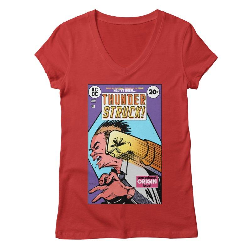 Thunder struck! Women's V-Neck by Krishna Designs