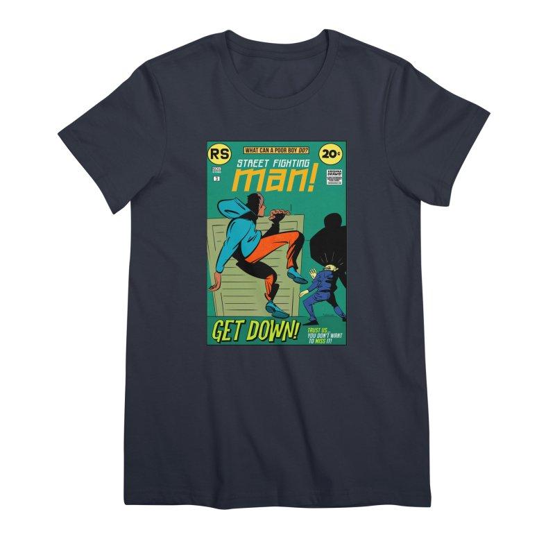 Street Fighting Man Women's Premium T-Shirt by Krishna Designs