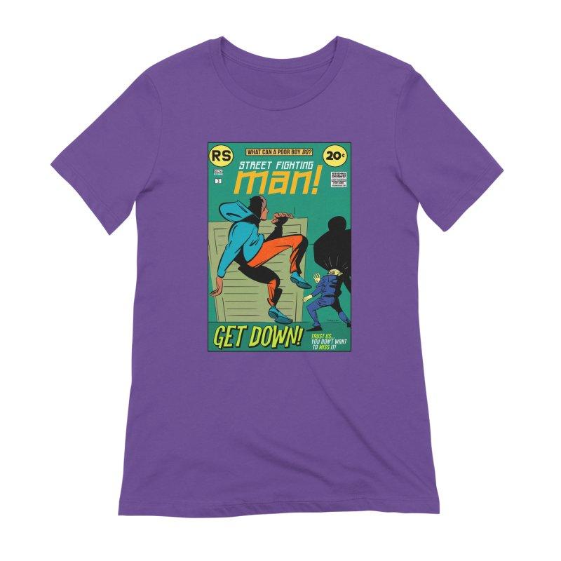Street Fighting Man Women's Extra Soft T-Shirt by Krishna Designs
