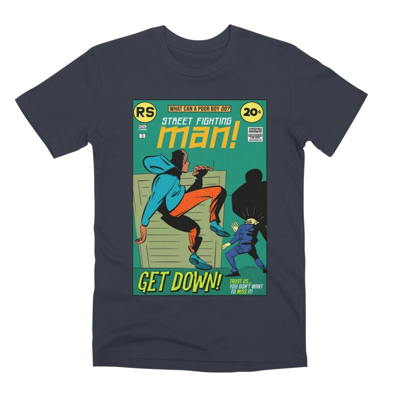 Street Fighting Man Men's Premium T-Shirt by Krishna Designs