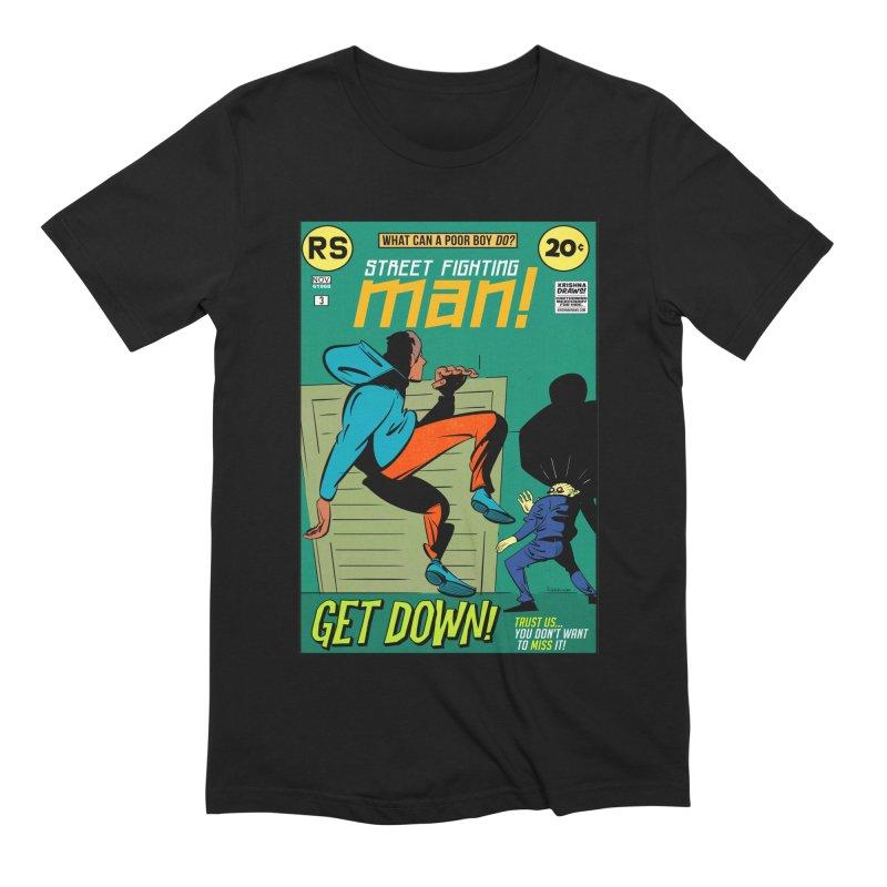 Street Fighting Man Men's Extra Soft T-Shirt by Krishna Designs