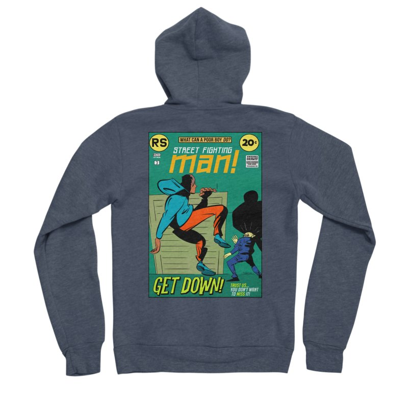 Street Fighting Man Men's Sponge Fleece Zip-Up Hoody by Krishna Designs
