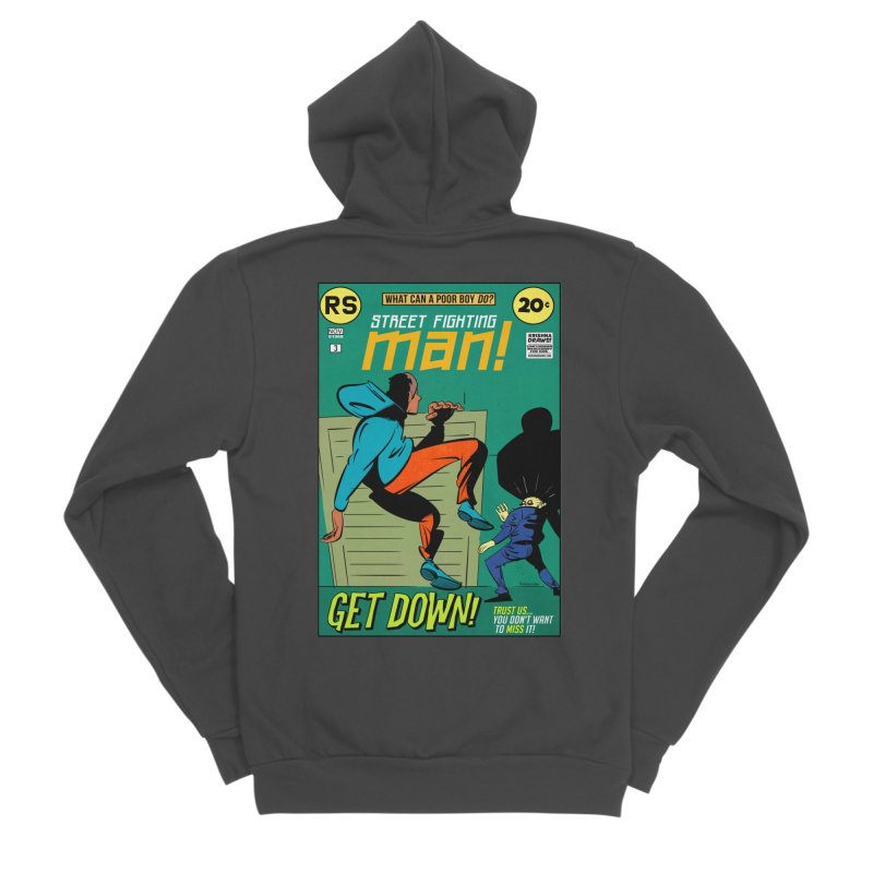 Street Fighting Man Women's Sponge Fleece Zip-Up Hoody by Krishna Designs