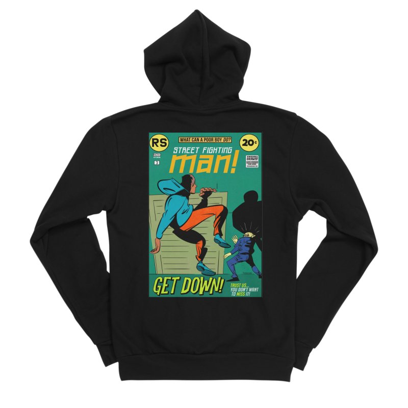 Street Fighting Man Men's Sponge Fleece Zip-Up Hoody by Krishna Designs