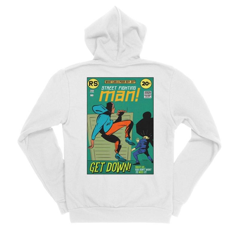 Street Fighting Man Women's Sponge Fleece Zip-Up Hoody by Krishna Designs