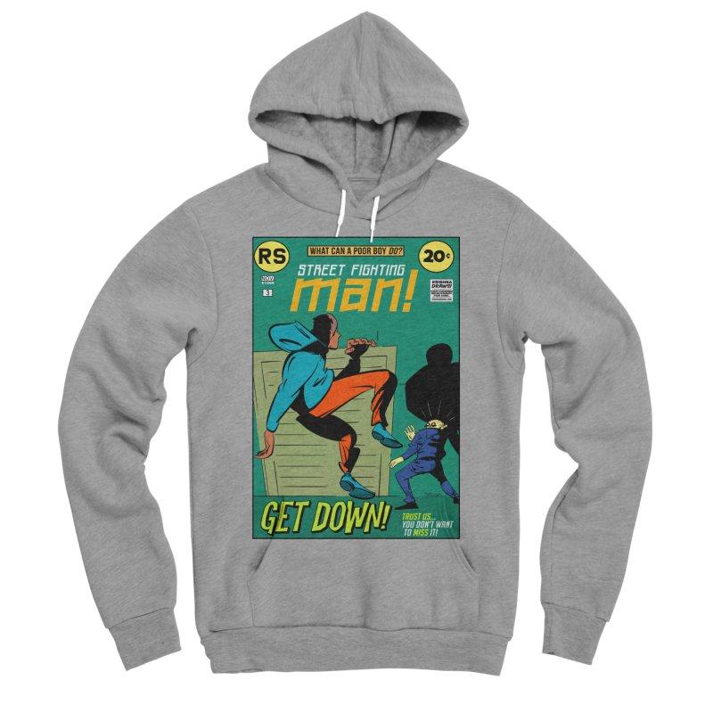 Street Fighting Man Men's Sponge Fleece Pullover Hoody by Krishna Designs