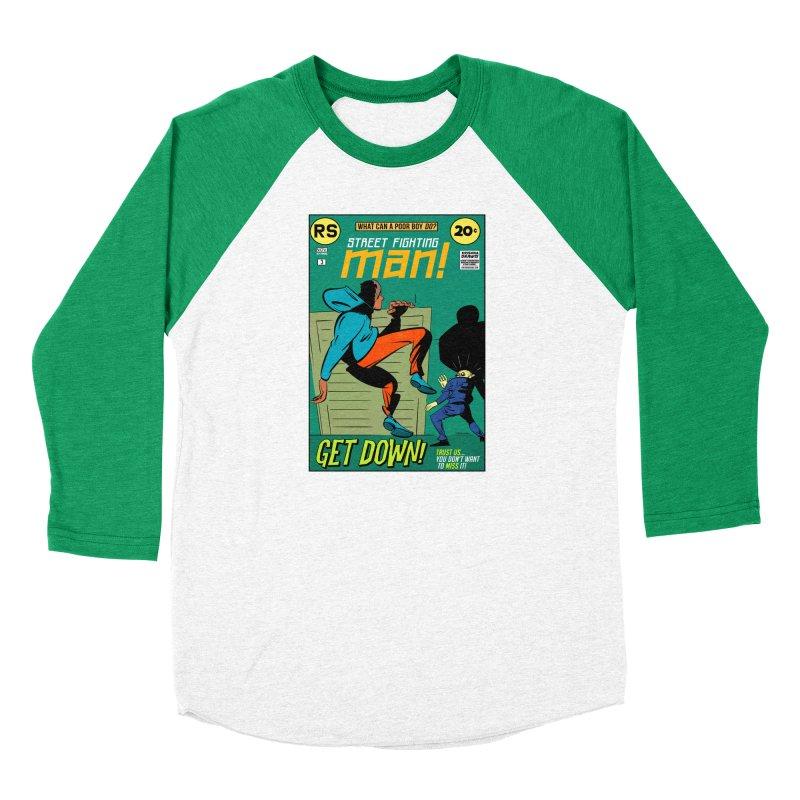 Street Fighting Man Women's Baseball Triblend Longsleeve T-Shirt by Krishna Designs