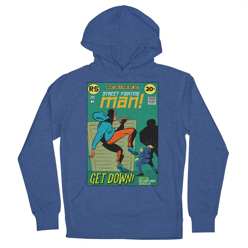 Street Fighting Man Men's French Terry Pullover Hoody by Krishna Designs