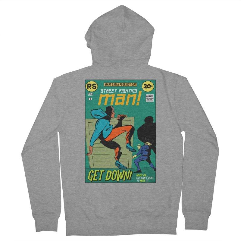 Street Fighting Man Women's French Terry Zip-Up Hoody by Krishna Designs